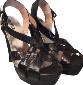 Michael Kors Black snakeskin Sandals