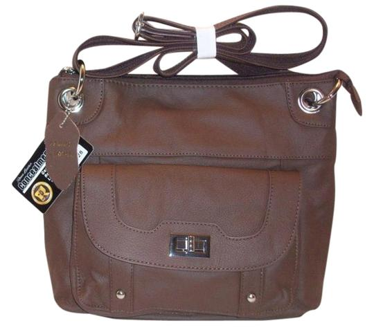 Roma Leather Gun Bags Premium Lined; Cell Phone Pocket; Adjustable Removable Holster; Shoulder Bag
