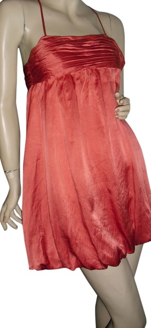 Item - Orange Silk Cocktail Fashionista Style Boutique Above Knee Night Out Dress Size 0 (XS)