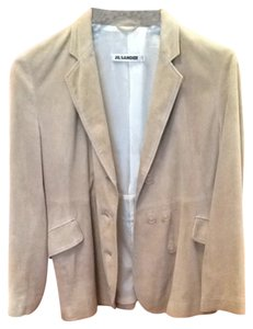 Jil Sander Jil Jacket Fully Lined Made In Italy Size 38 38 Italian Leather Jacket Leather Khaki camel tan suede Blazer