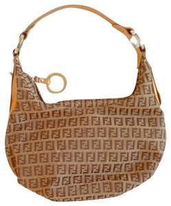 Fendi Vintage Monogram Leather Shoulder Bag