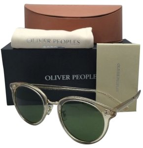 Oliver Peoples New OLIVER PEOPLES Sunglasses SPELMAN OV 5323S 109452 Buff Frame w/ Green Lenses