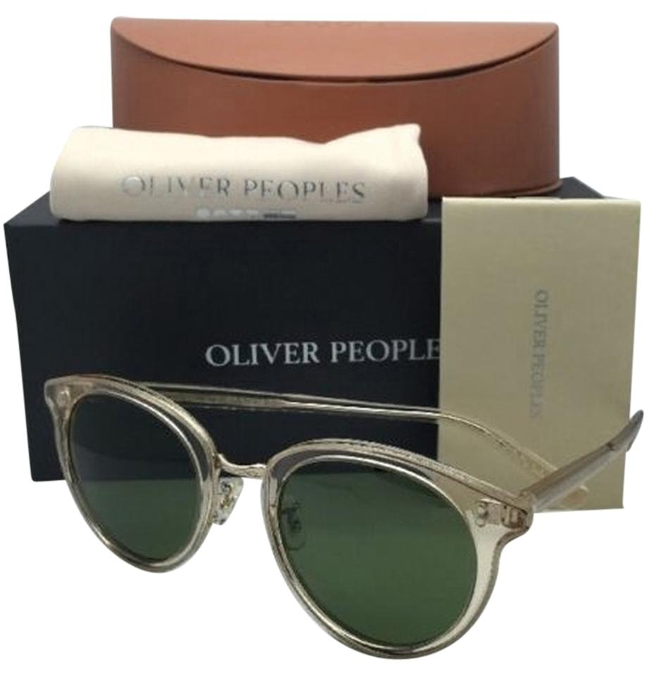 a9ba5aa4eb Oliver Peoples New OLIVER PEOPLES Sunglasses SPELMAN OV 5323S 109452 Buff  Frame w  Green Lenses ...