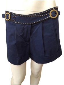 Tracy Reese Cuffed Shorts Navy Blue