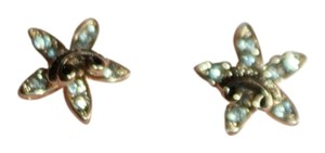 Juicy Couture JUICY COUTURE GOLD TONE STARFISH RHINESTONE EARRINGS