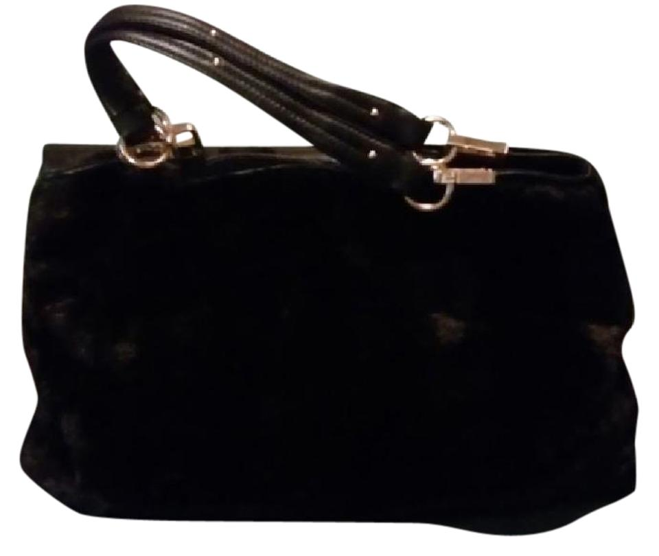 Paolo Masi Mink Leather Gold Hardware Satchel In Dark Brown