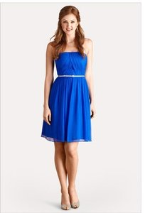 Donna Morgan Brazilian Blue Chiffon - Item Number: 57924sxebzb Feminine Bridesmaid/Mob Dress Size 8 (M)