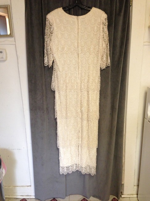 Joan Davis Jo-Hanna York Vintage 1970's Art Deco Inspired Wedding Dress