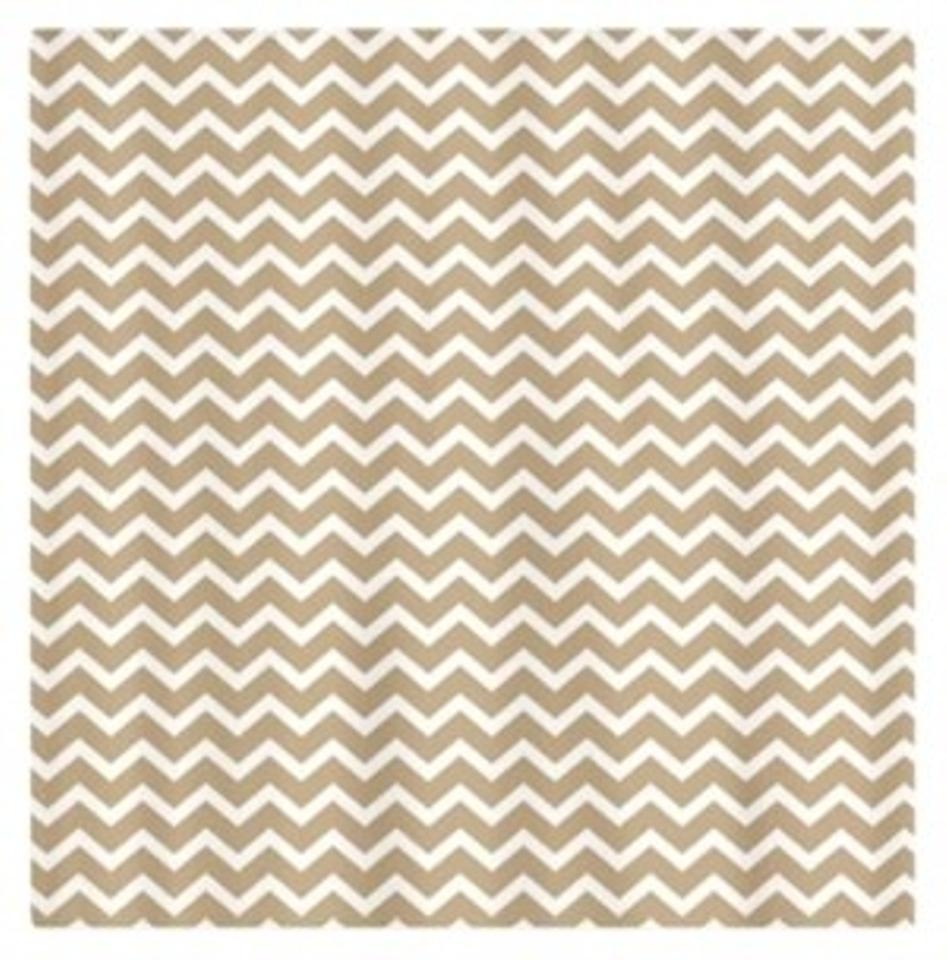 CafePress Tan And White Chevron Shower Curtain