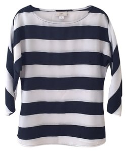Ann Taylor LOFT Top Navy blue/ white stripe