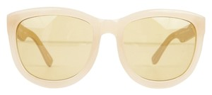 Linda Farrow for The Row tan sunglasses yellow tint