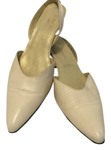 Robert Clergerie All Leather French Vintage Bone Pumps