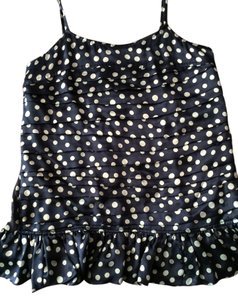 Vera Wang Lavender Label Top Blue/white polka dots