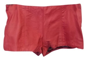 Reformation Leather Leather Veda Shorts Pink