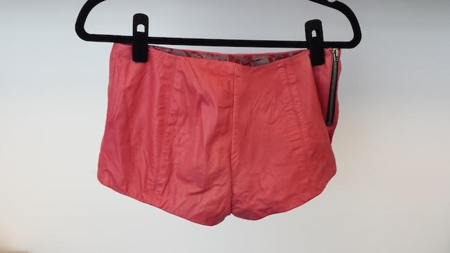 Reformation Leather Leather Veda Burning Man Shorts Pink