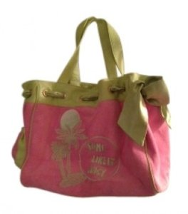 Juicy Couture Satchel in pink with green detailing