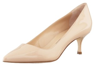 Manolo Blahnik Patent Bb Nude Pumps