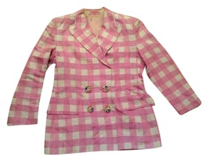 Guy Laroche Pink and white Blazer