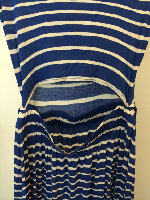 Three Dots short dress Blue and white on Tradesy