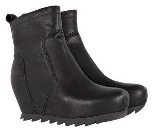 Camilla Skovgaard London Leather Edgy Wedge Black Boots
