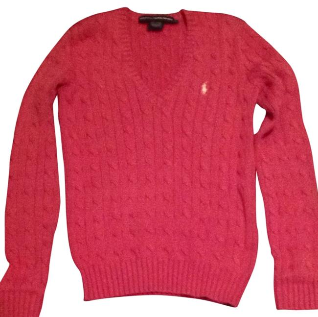 Ralph Lauren V-nack Cable Knit Sweater