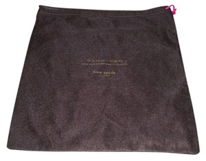 Kate Spade New Kate Spade Sleeper/ Dust Bag / Protective Cover 12 inch width x 13 inch length. Brown with Gold Logo Drawstring bag.