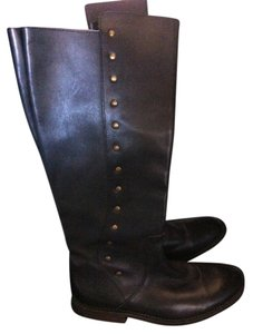 Bed|Stü Studded Leather Studded Leather Leather BLACK BROWN Boots