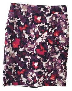 Ann Taylor Skirt Purple/red