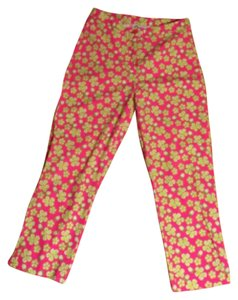 Lilly Pulitzer Capris Bright Preppy Pink/Green