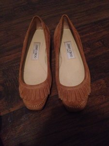 Jimmy Choo Tan Flats