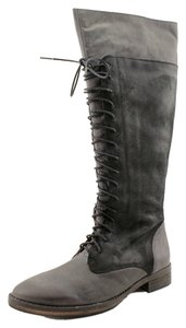 Sixtyseven Edgy Leather Black Wax Boots