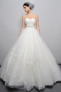 Eden Ivory Lace and Tulle Bl033 Vintage Wedding Dress Size 6 (S)
