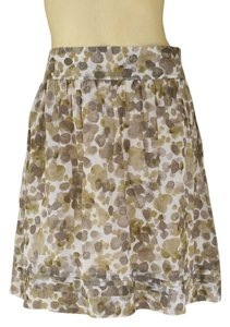 Ann Taylor LOFT Cotton Green Skirt Olive
