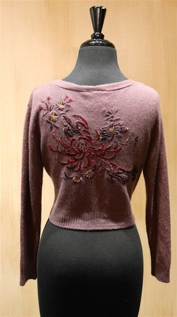 And Cake Embroidered Embellished Crystals Cashmere Cropped Sweater