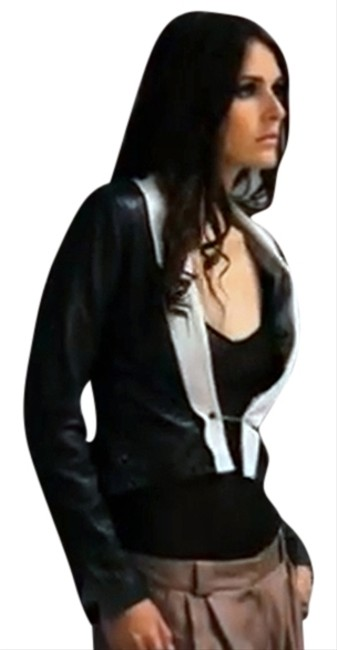 Alpinestars by Denise Focil Designer Hip And Edgey Never Worn Buttery Hollywood Black & White Leather Jacket