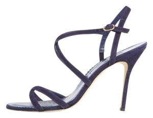 Manolo Blahnik Navy Sandals