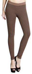 Nikibiki Basket Weave Outfit Fall Herringbone High Quality Creamy Taupe Leggings