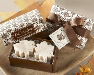 100 Fall Leaf Soap Wedding Favors - Message For Different Amount