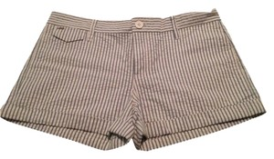 JOE'S Jeans Shorts White With Light Blue Stripes