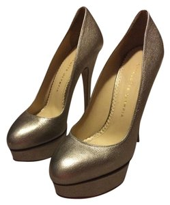 Charlotte Olympia Pewter Pumps