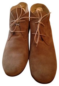 Anniel Classic Suede Leather Soles Beige Boots