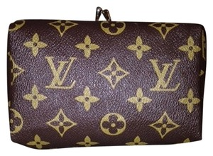 Louis Vuitton Vintage Kisslock Lv classic brown Clutch