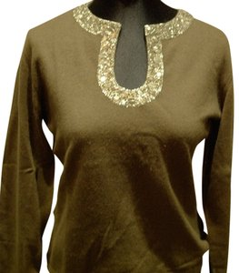Armand Diradourian Cashmere Holiday Sequined Sweater