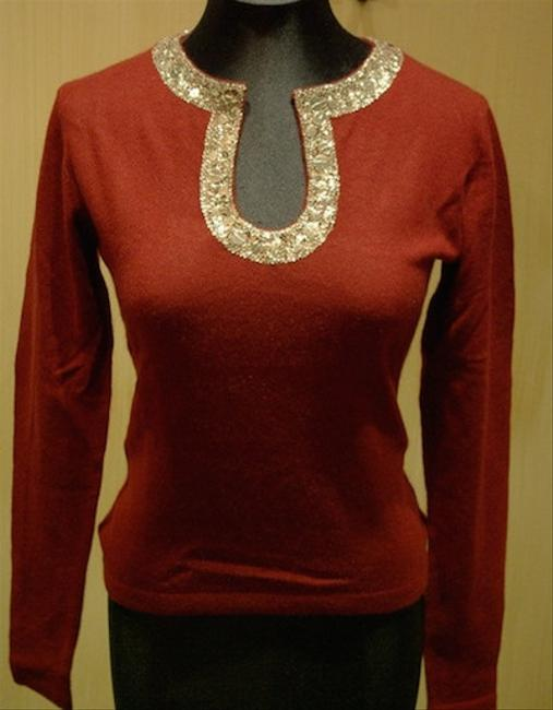 Armand Diradourian Cashmere Holiday Sequined Embellished Sweater