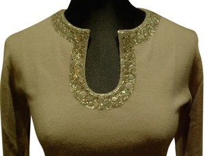 Armand Diradourian Holiday Cashmere Embellished Sweater