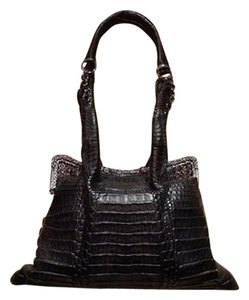 Clara Kasavina Real Crocodile Embellished Satchel