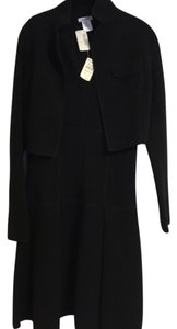 Oscar de la Renta Oscar De La Renta Couture Black Cashmere Dress & Jacket Set (NWT)