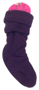 Betsey Johnson Betsey Johnson Fleece Welly Boot Liners Calf Height Purple S/M