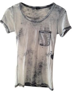 BDG T Shirt White and Gray Wash Out
