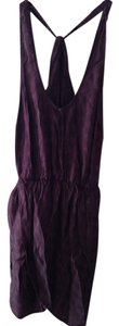 Solemio short dress Dark Purple on Tradesy